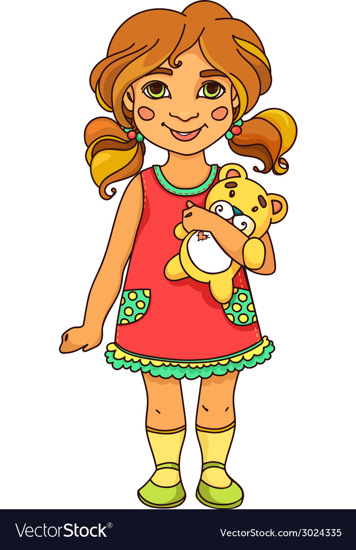 Girl and toy v s vector | Price: 1 Credit (USD $1)