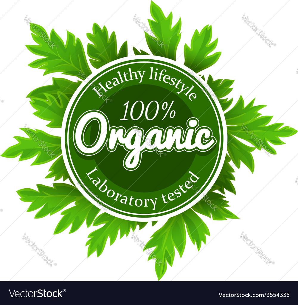 Organic round logo sign label vector   Price: 1 Credit (USD $1)