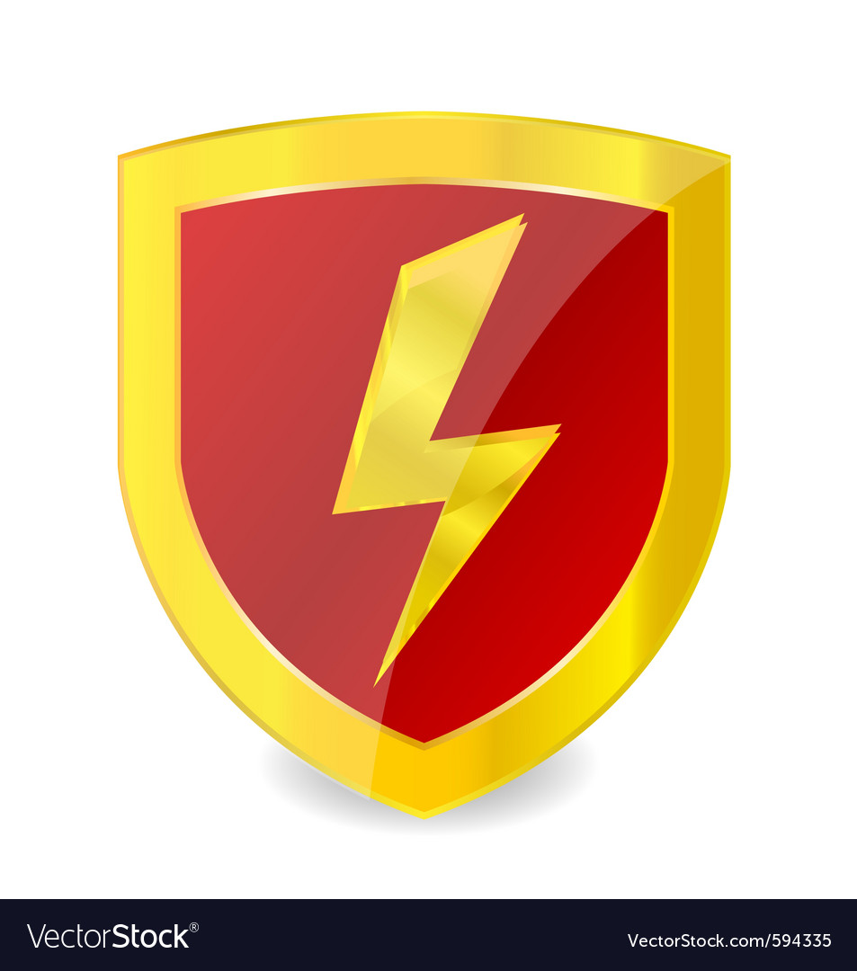Power sign emblem vector | Price: 1 Credit (USD $1)