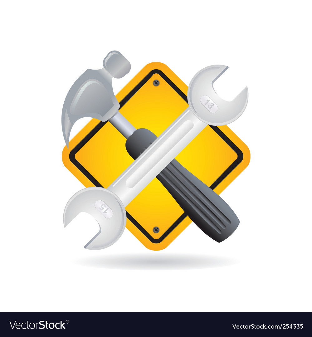 Tool and sign vector | Price: 1 Credit (USD $1)