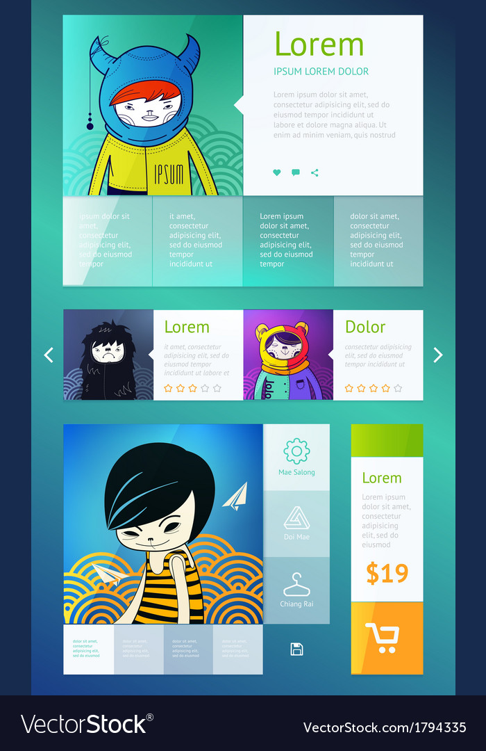 Ui is a set of components featuring vector | Price: 1 Credit (USD $1)