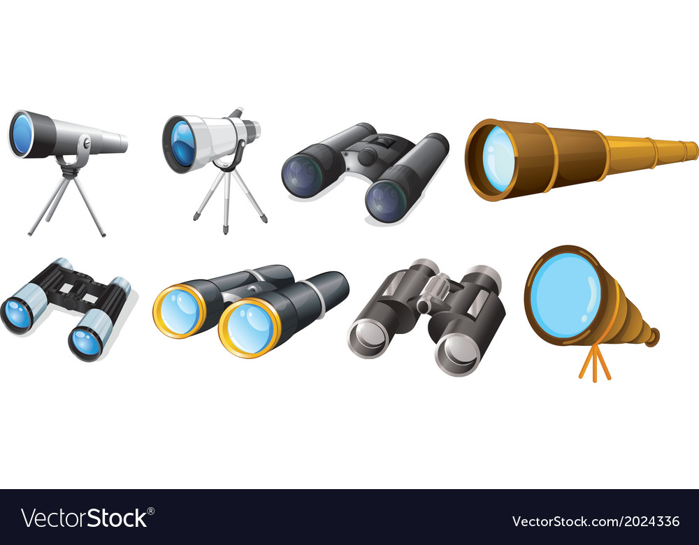 Different telescope designs vector | Price: 1 Credit (USD $1)