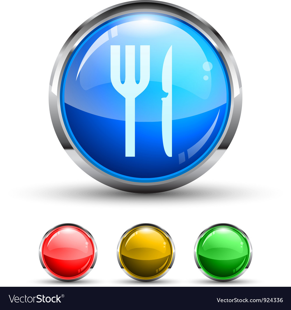 Dining button vector | Price: 1 Credit (USD $1)