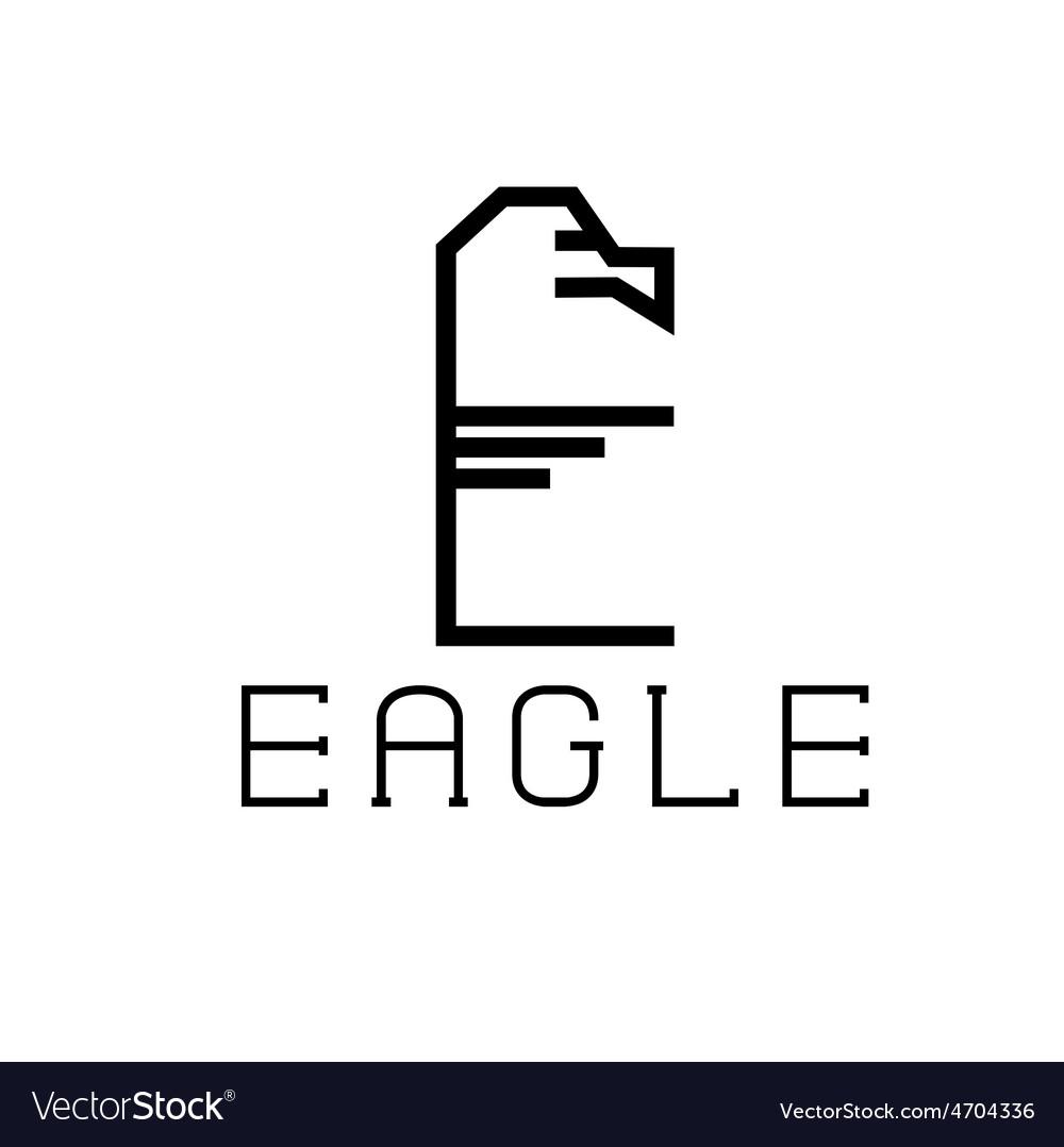 Eagle monogram vector | Price: 1 Credit (USD $1)