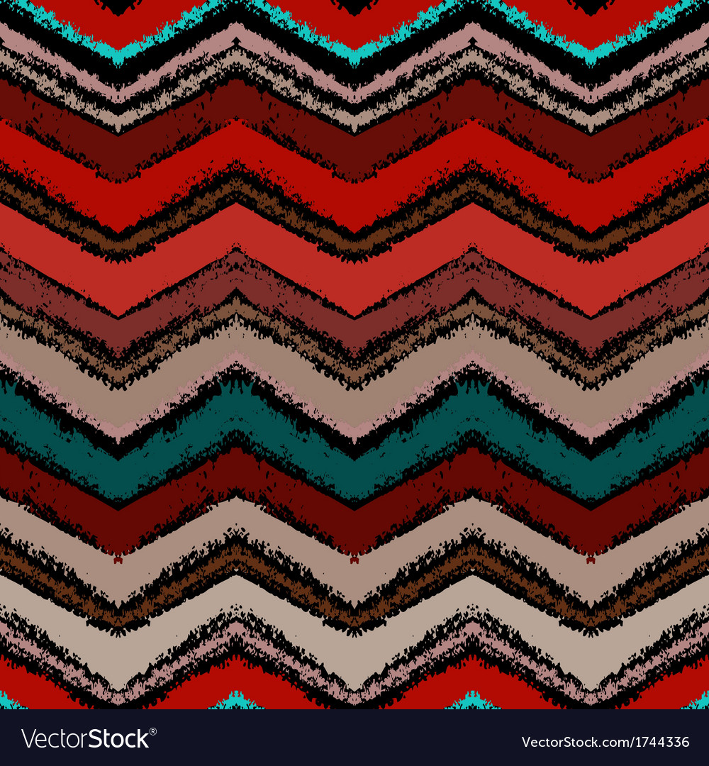 Hand drawn zigzag pattern in dark colors vector | Price: 1 Credit (USD $1)
