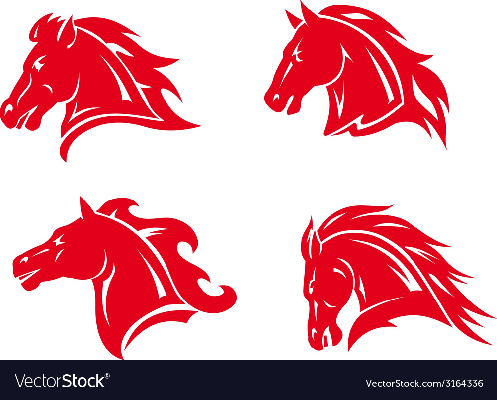 Horse mascots and tattoos vector | Price: 1 Credit (USD $1)