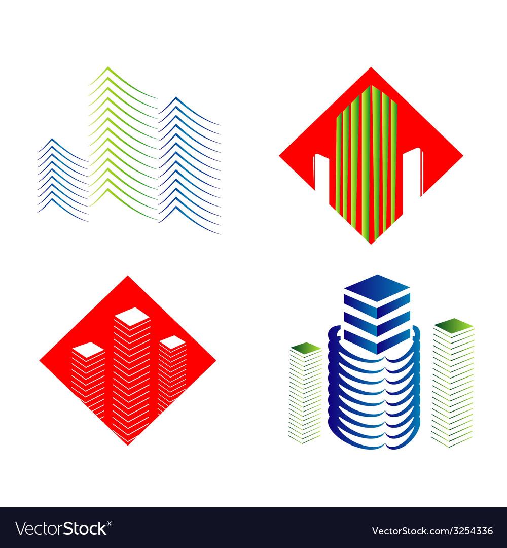 Real estate logo set vector   Price: 1 Credit (USD $1)