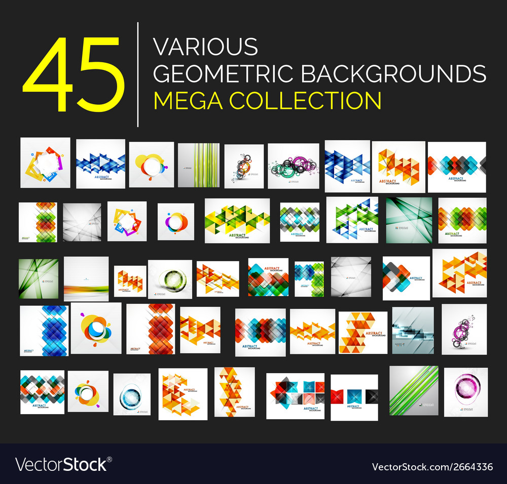 Set of various abstract backgrounds vector | Price: 1 Credit (USD $1)