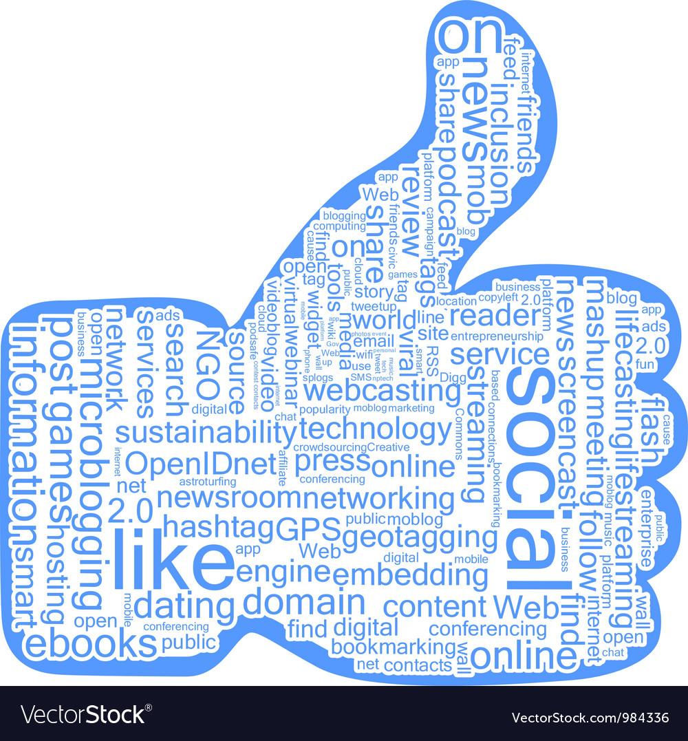 Social tags cloud vector | Price: 1 Credit (USD $1)