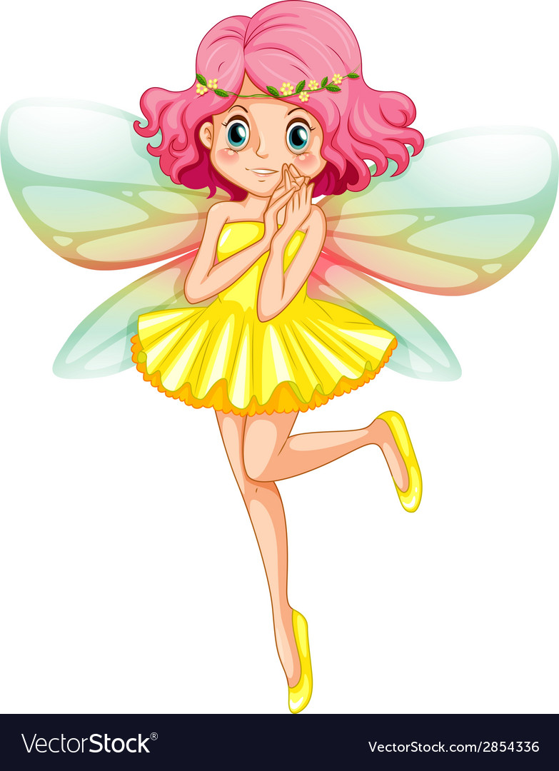 Yellow fairy vector | Price: 3 Credit (USD $3)