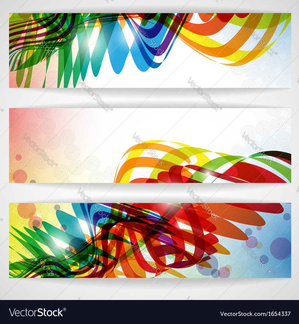Abstract colorful banner vector | Price: 1 Credit (USD $1)