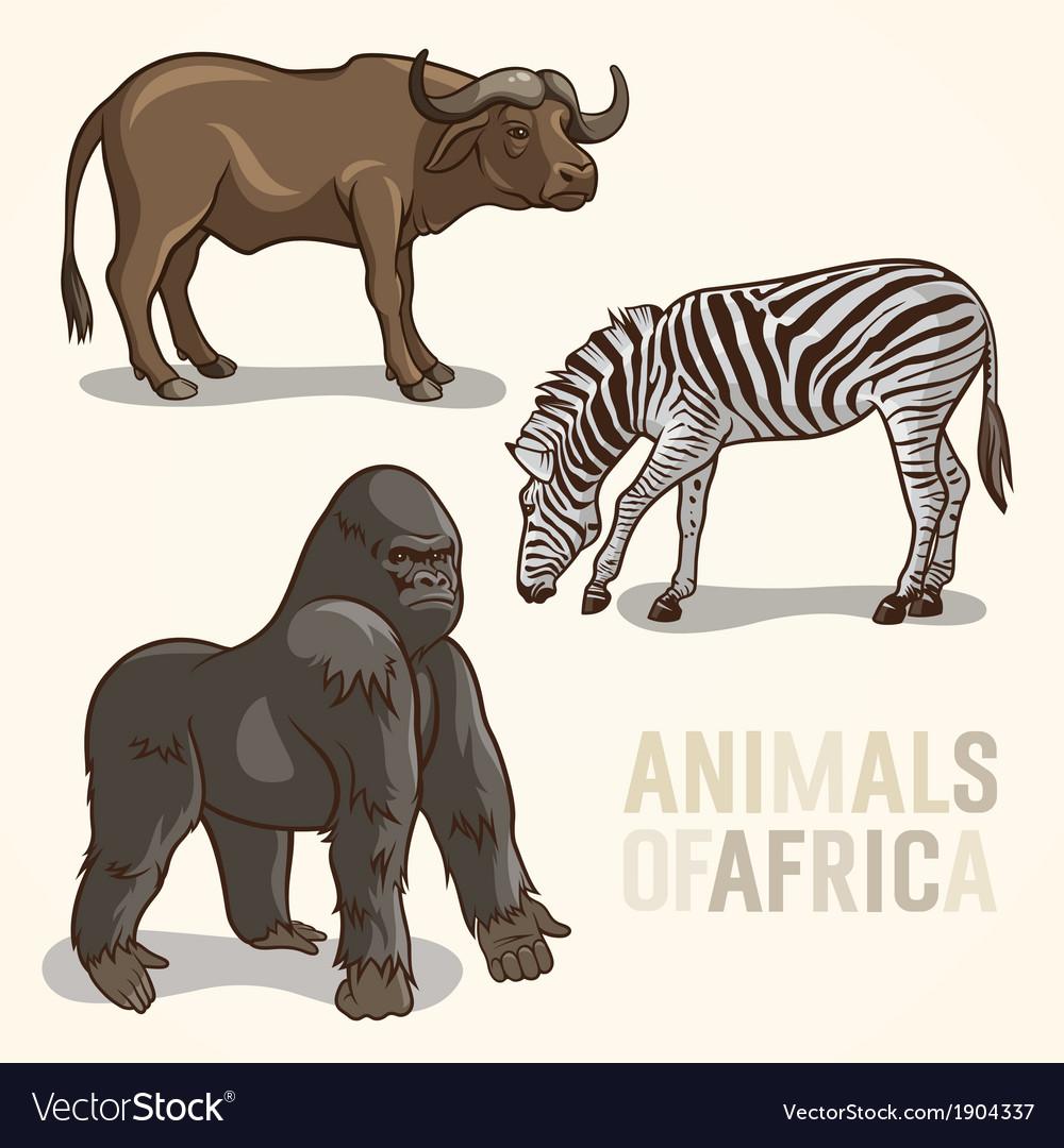 African animals set3 vector   Price: 1 Credit (USD $1)