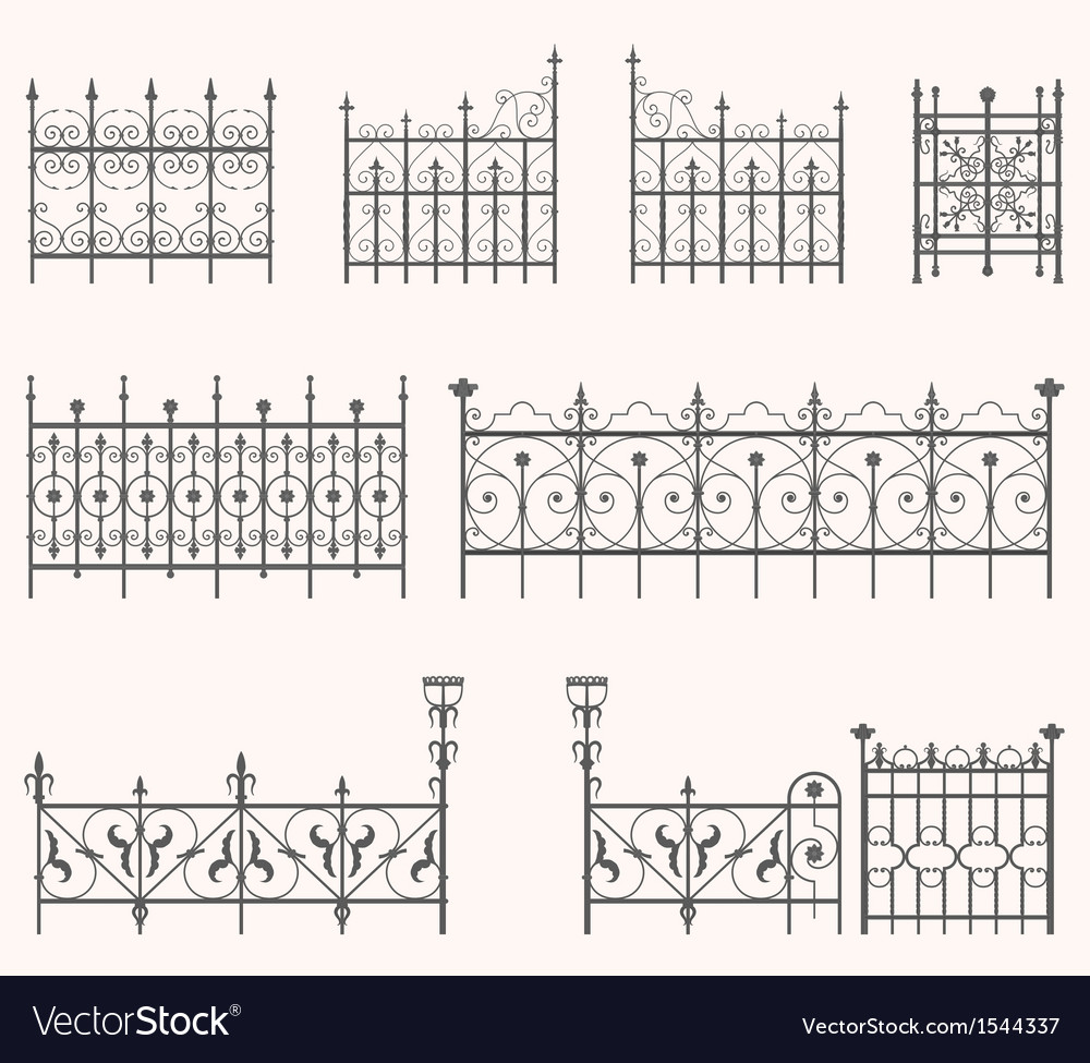 Antique fences - second set vector | Price: 1 Credit (USD $1)