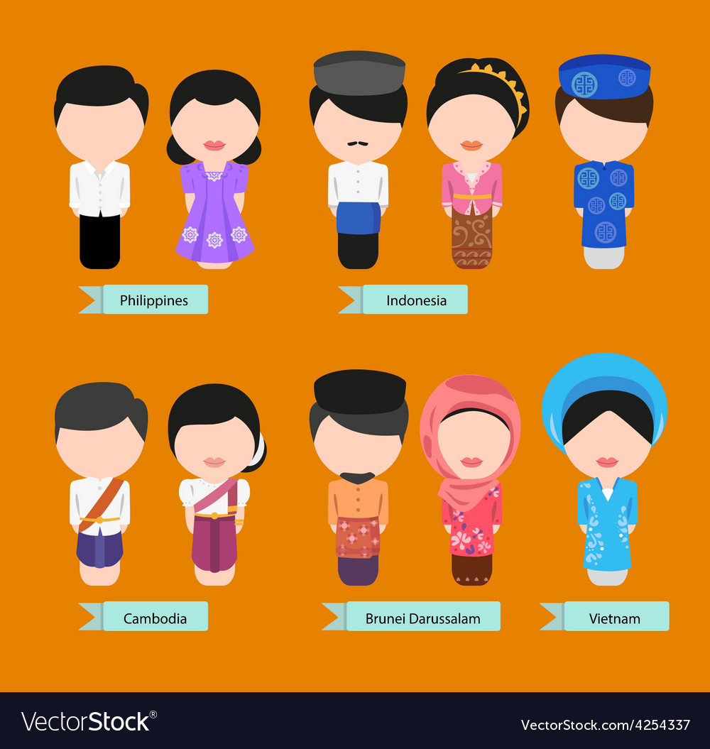 Asean clothing2 vector | Price: 1 Credit (USD $1)