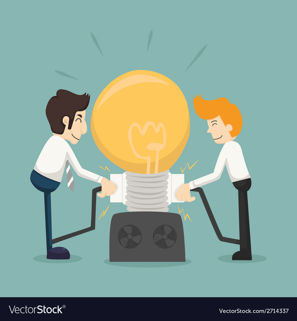 Businessman team work make idea vector | Price: 1 Credit (USD $1)
