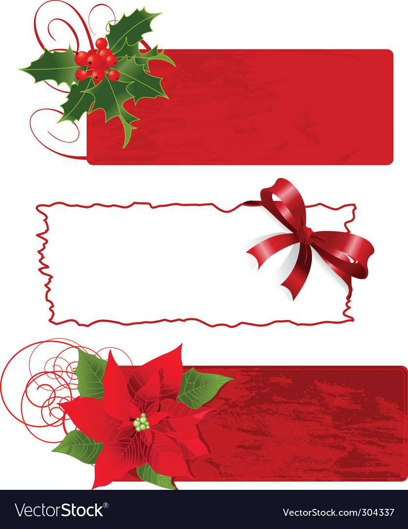 Christmas banners frames vector | Price: 1 Credit (USD $1)