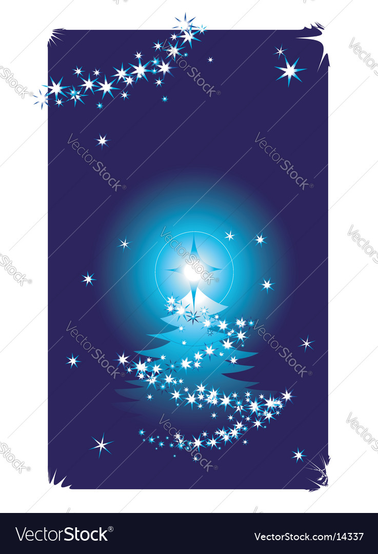Christmas card snowflakes tree vector | Price: 1 Credit (USD $1)