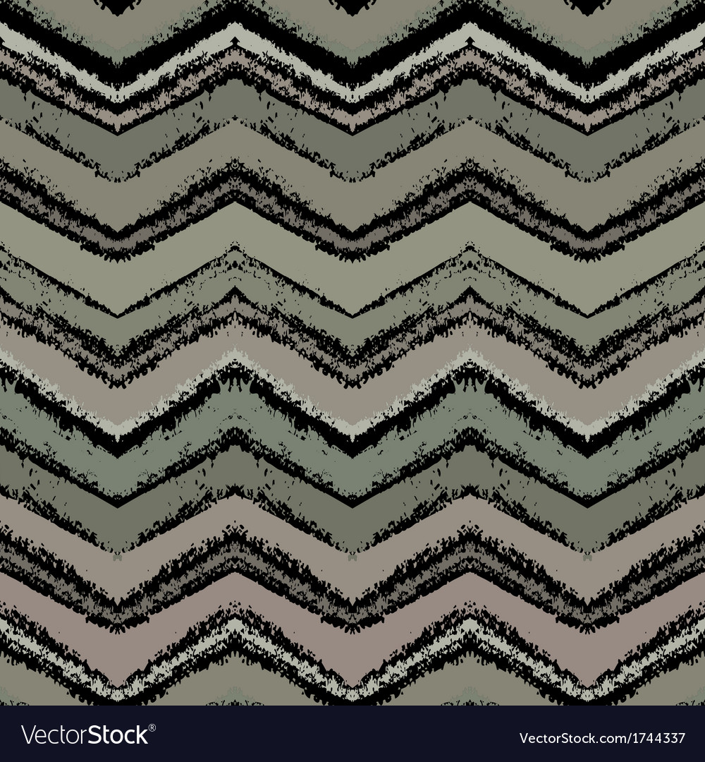 Hand drawn zigzag pattern in gray colors vector | Price: 1 Credit (USD $1)