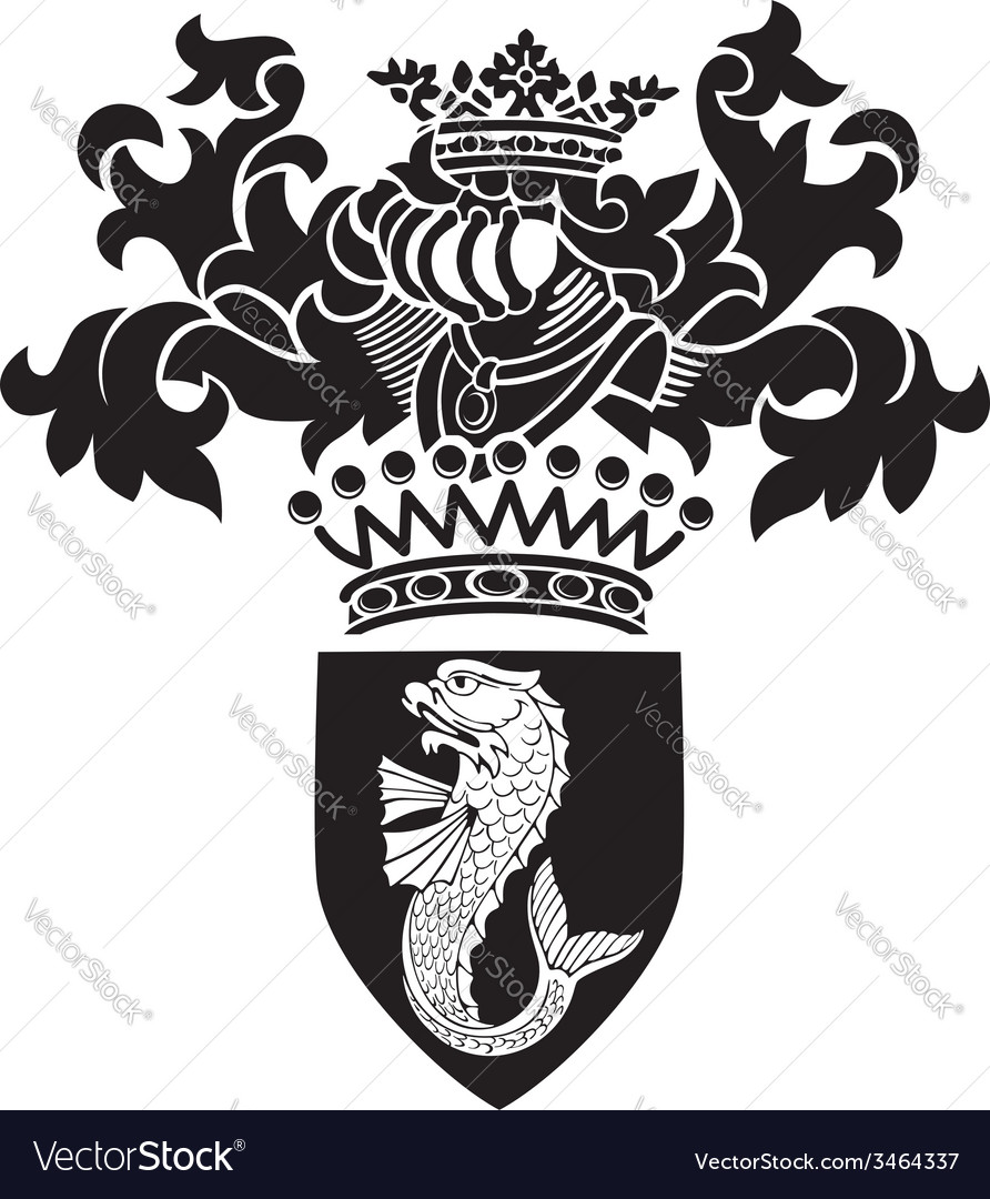 Heraldic silhouette no27 vector | Price: 1 Credit (USD $1)