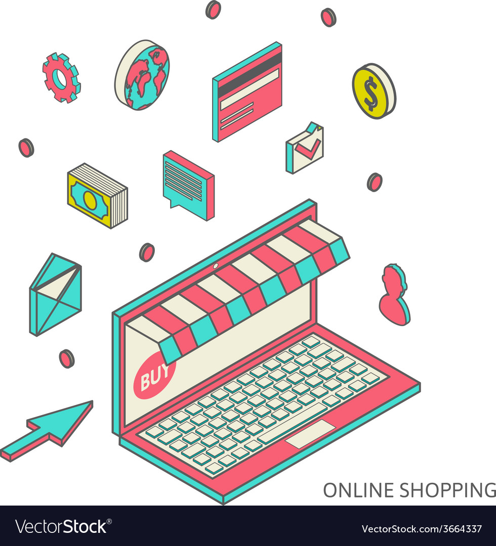 Icons for mobile marketing and online shopping vector   Price: 1 Credit (USD $1)