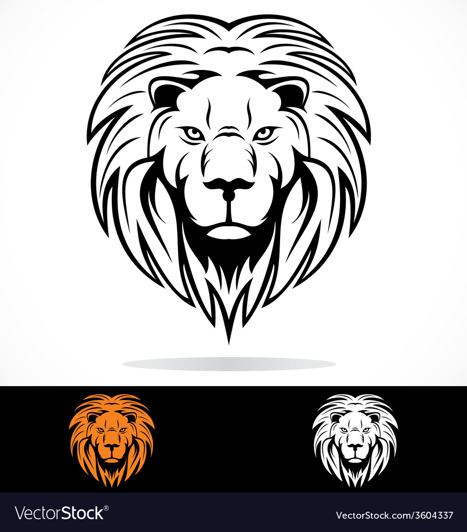 Lions head tribal vector | Price: 1 Credit (USD $1)