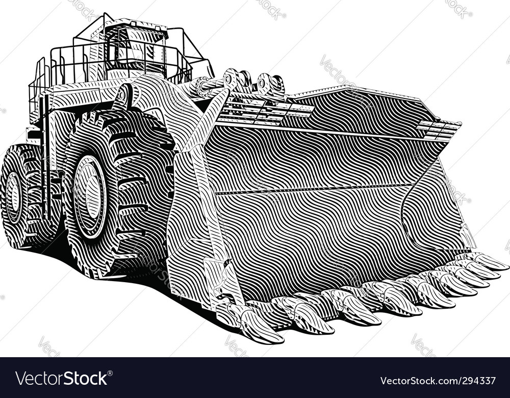 Loader engraving vector | Price: 1 Credit (USD $1)