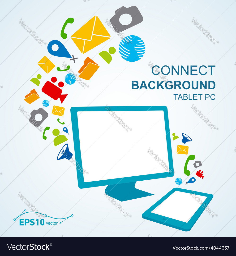 Tablet pc copy file computer no effect vector | Price: 1 Credit (USD $1)
