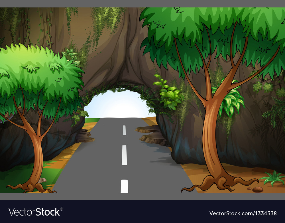 A road under the cave vector | Price: 1 Credit (USD $1)