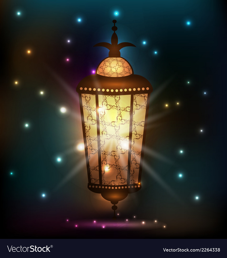 Ramadan background with arabic lantern vector | Price: 1 Credit (USD $1)