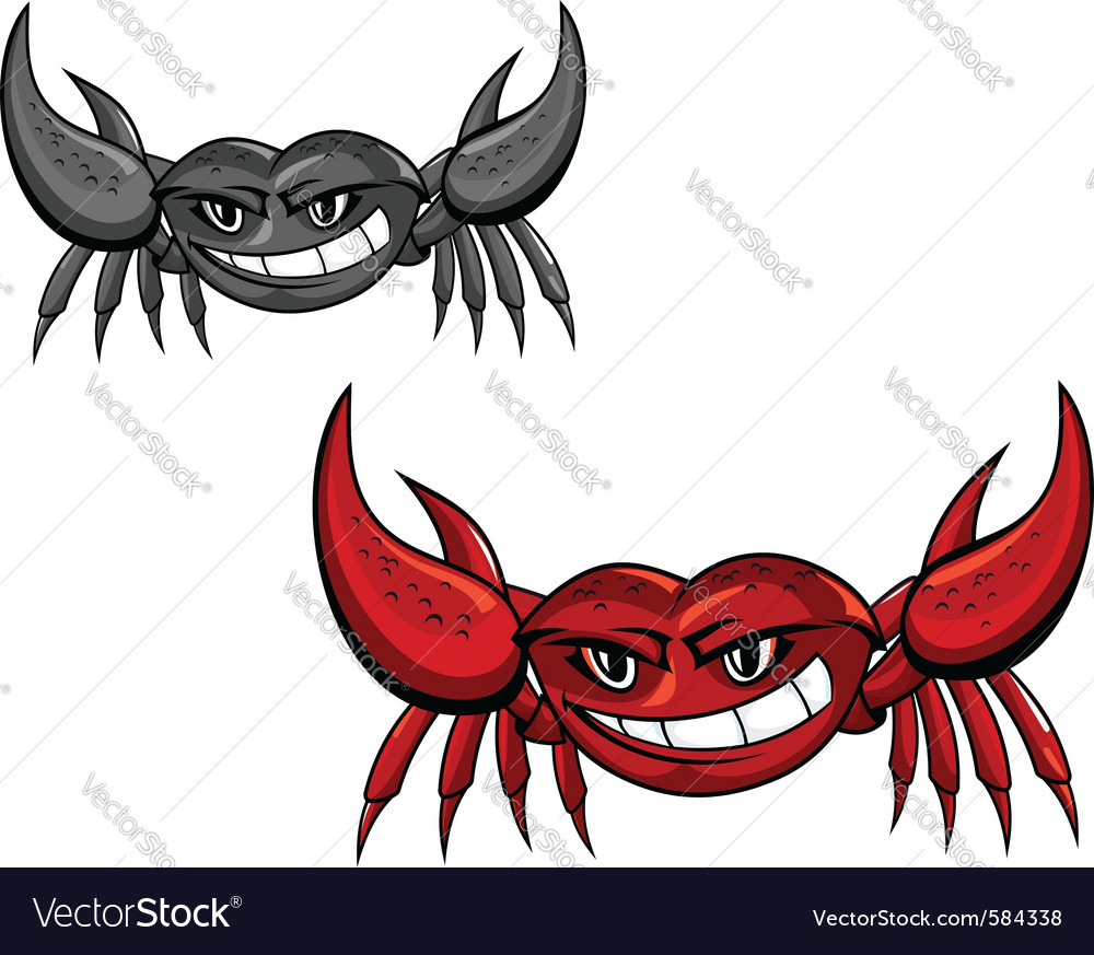 Red crab with claws vector | Price: 1 Credit (USD $1)