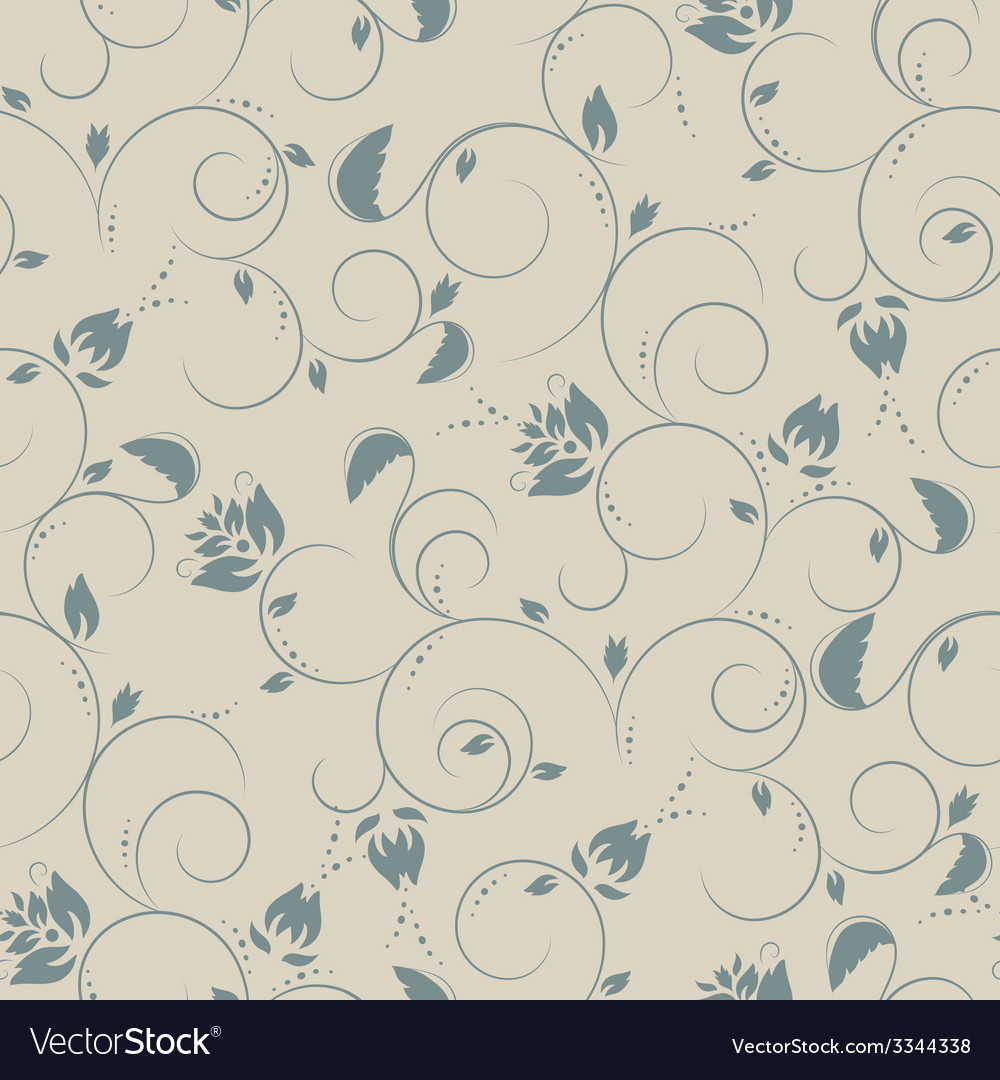 Seamless flower plant pattern background vector | Price: 1 Credit (USD $1)
