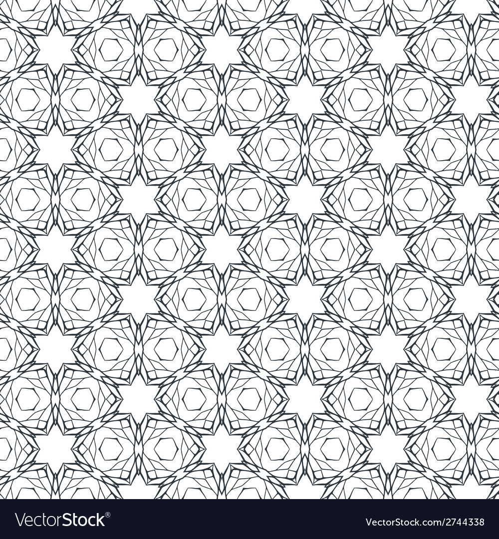Seamless pattern with mosaic lace ornament vector | Price: 1 Credit (USD $1)