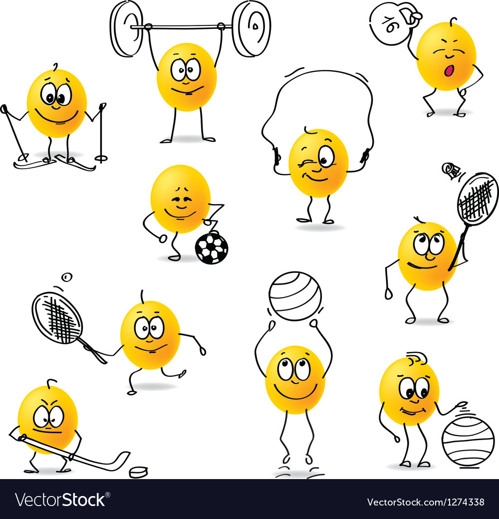 Smiley sports vector | Price: 1 Credit (USD $1)