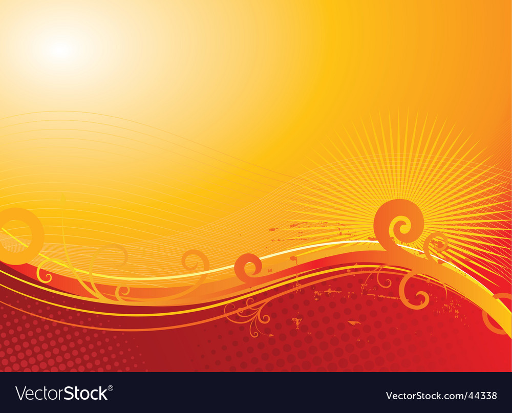 Sunny floral background vector