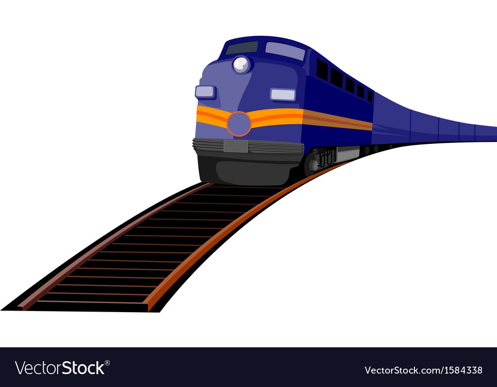 Train heading front vector | Price: 1 Credit (USD $1)
