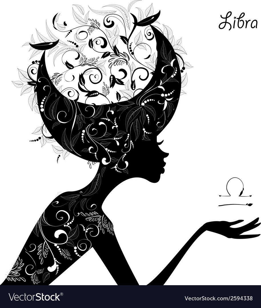 Zodiac sign libra fashion girl vector | Price: 1 Credit (USD $1)