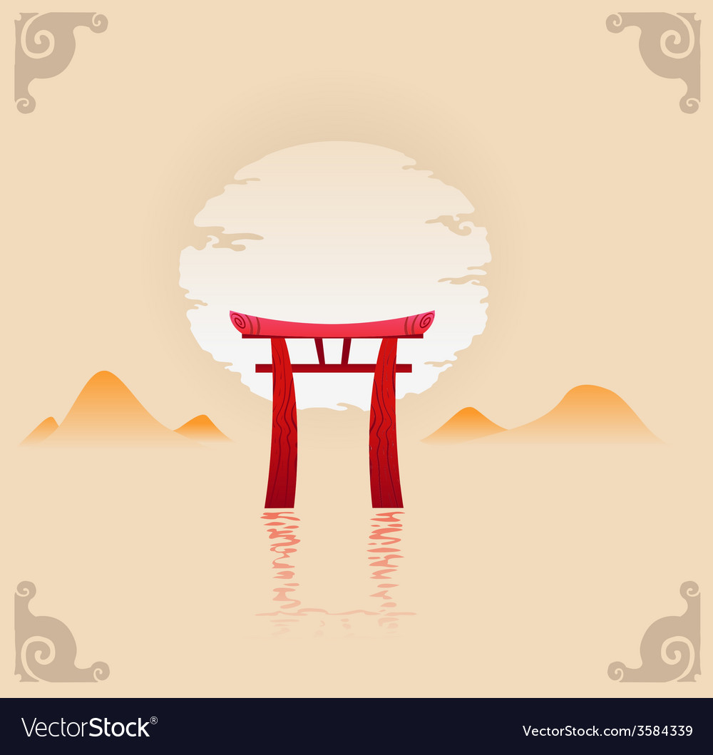 Abstract japan background vector | Price: 1 Credit (USD $1)