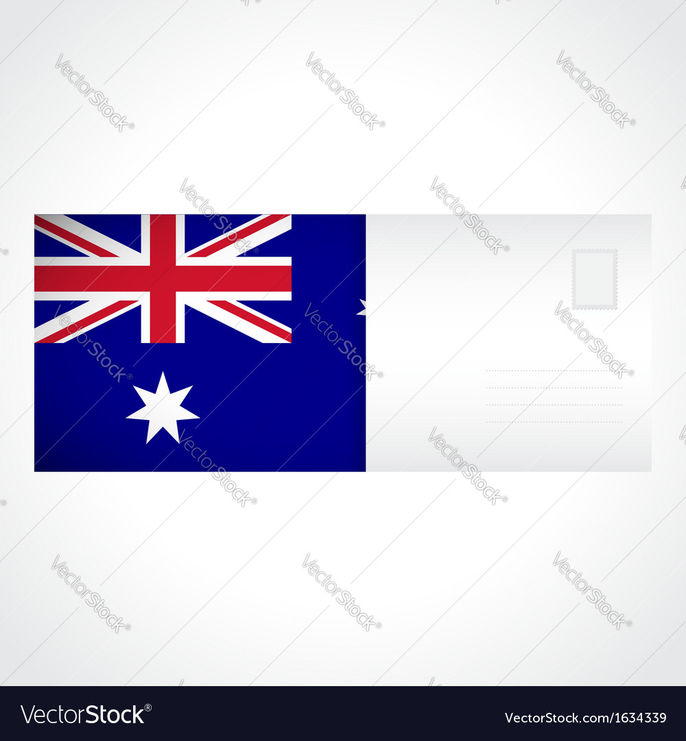 Envelope with australian flag card vector | Price: 1 Credit (USD $1)