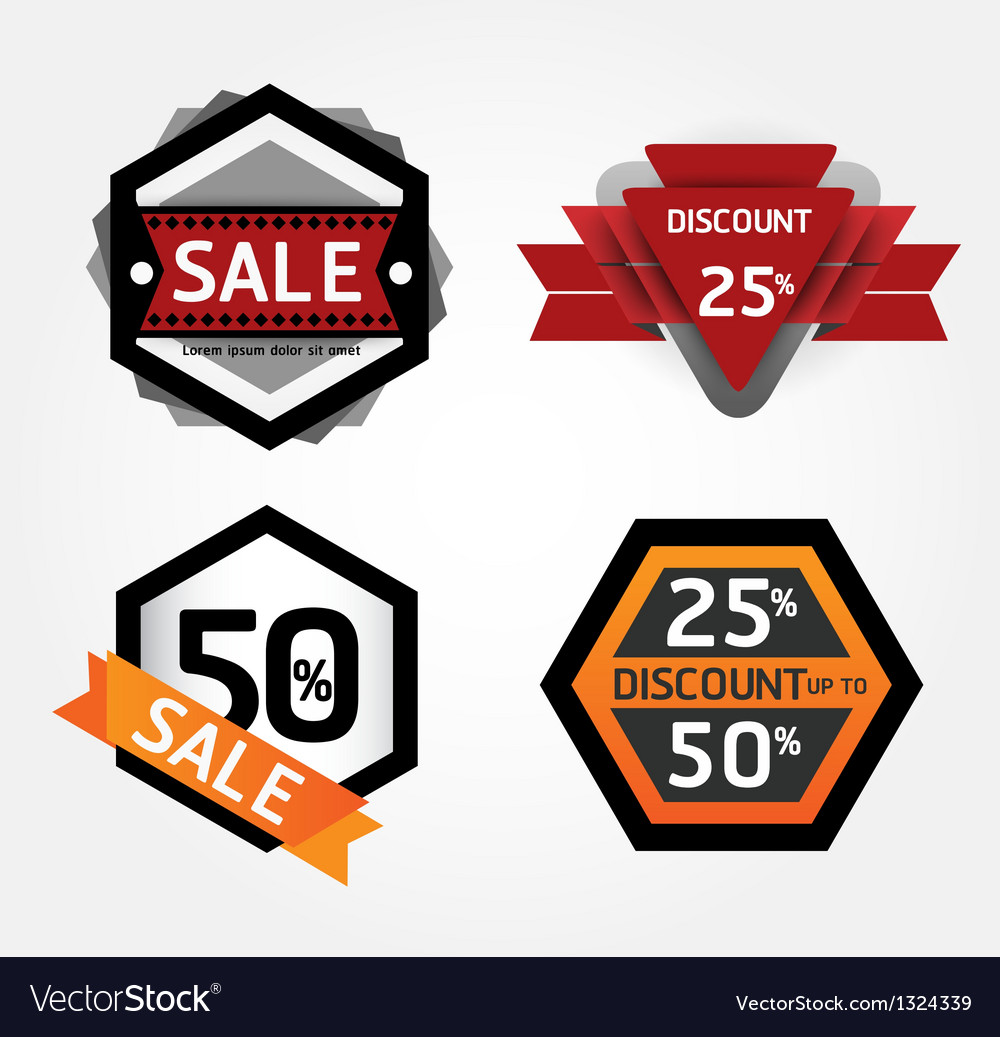 Modern design labels layout vector | Price: 1 Credit (USD $1)