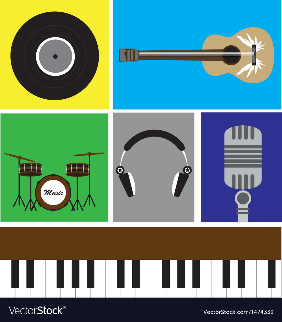The music icon vector | Price: 1 Credit (USD $1)