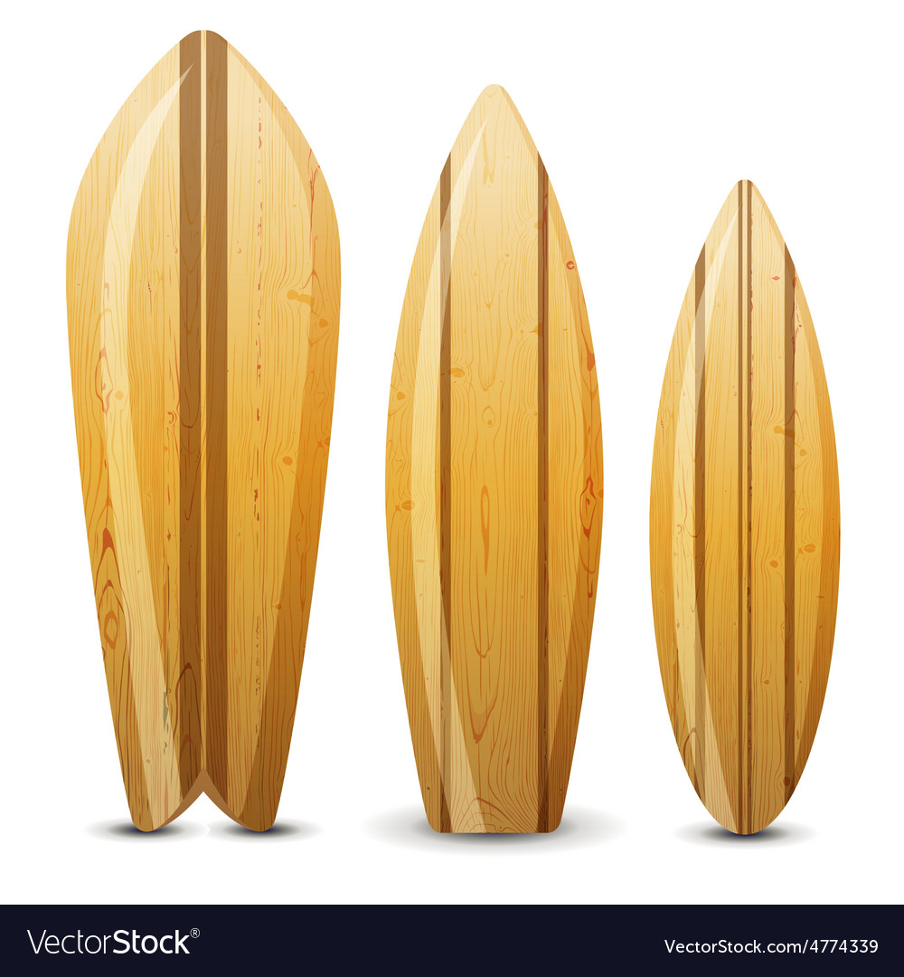 Wooden surf boards vector | Price: 1 Credit (USD $1)