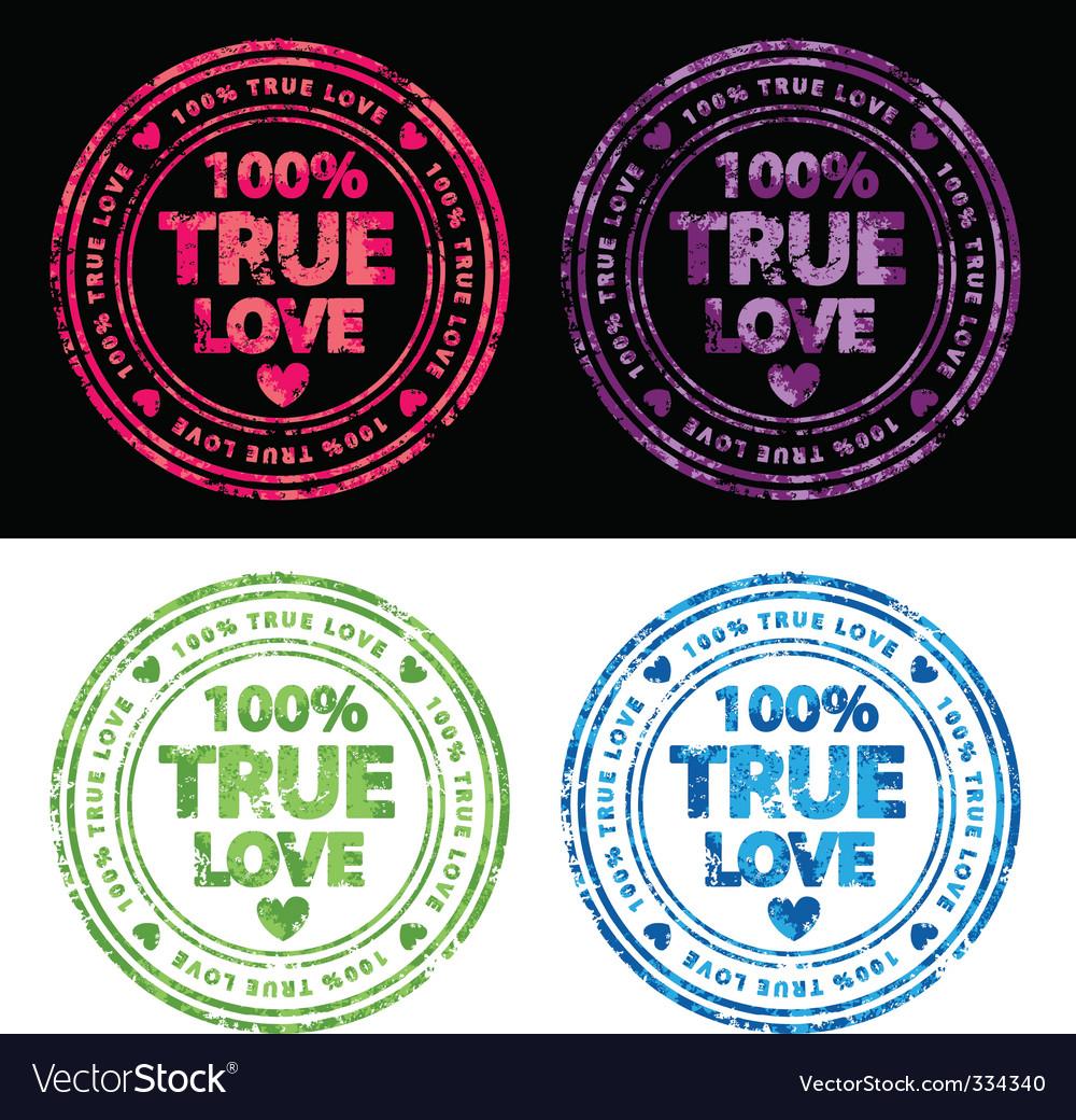 100% true love stamp vector | Price: 1 Credit (USD $1)