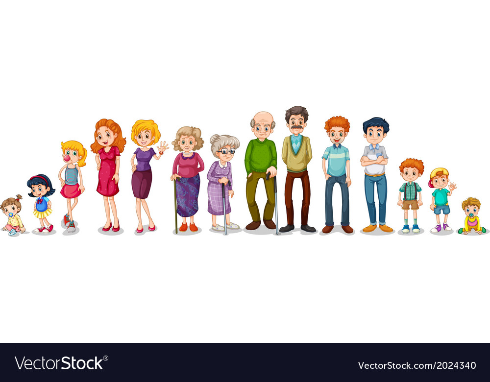 A big extended family vector | Price: 3 Credit (USD $3)