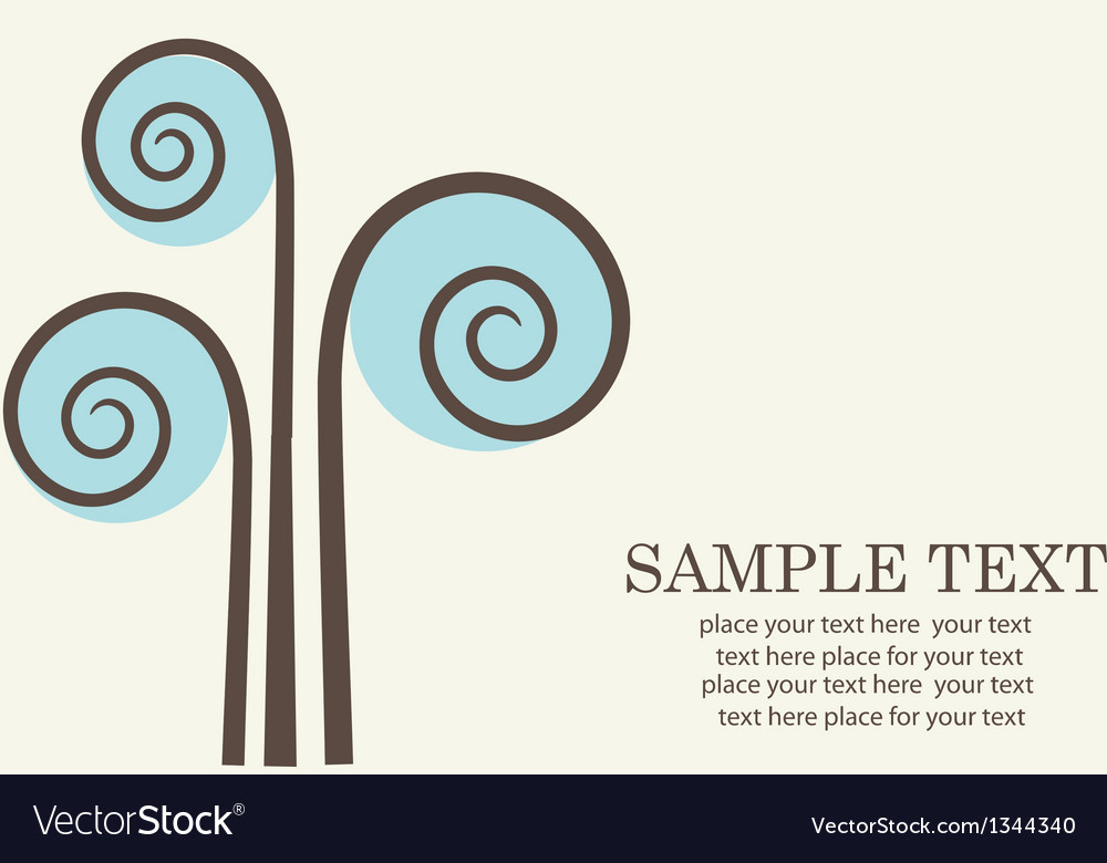 Abstract tree retro card vector | Price: 1 Credit (USD $1)