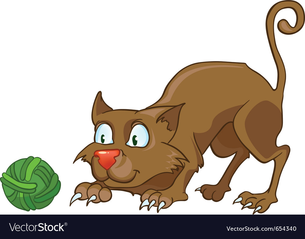 Cartoon character cat vector | Price: 3 Credit (USD $3)