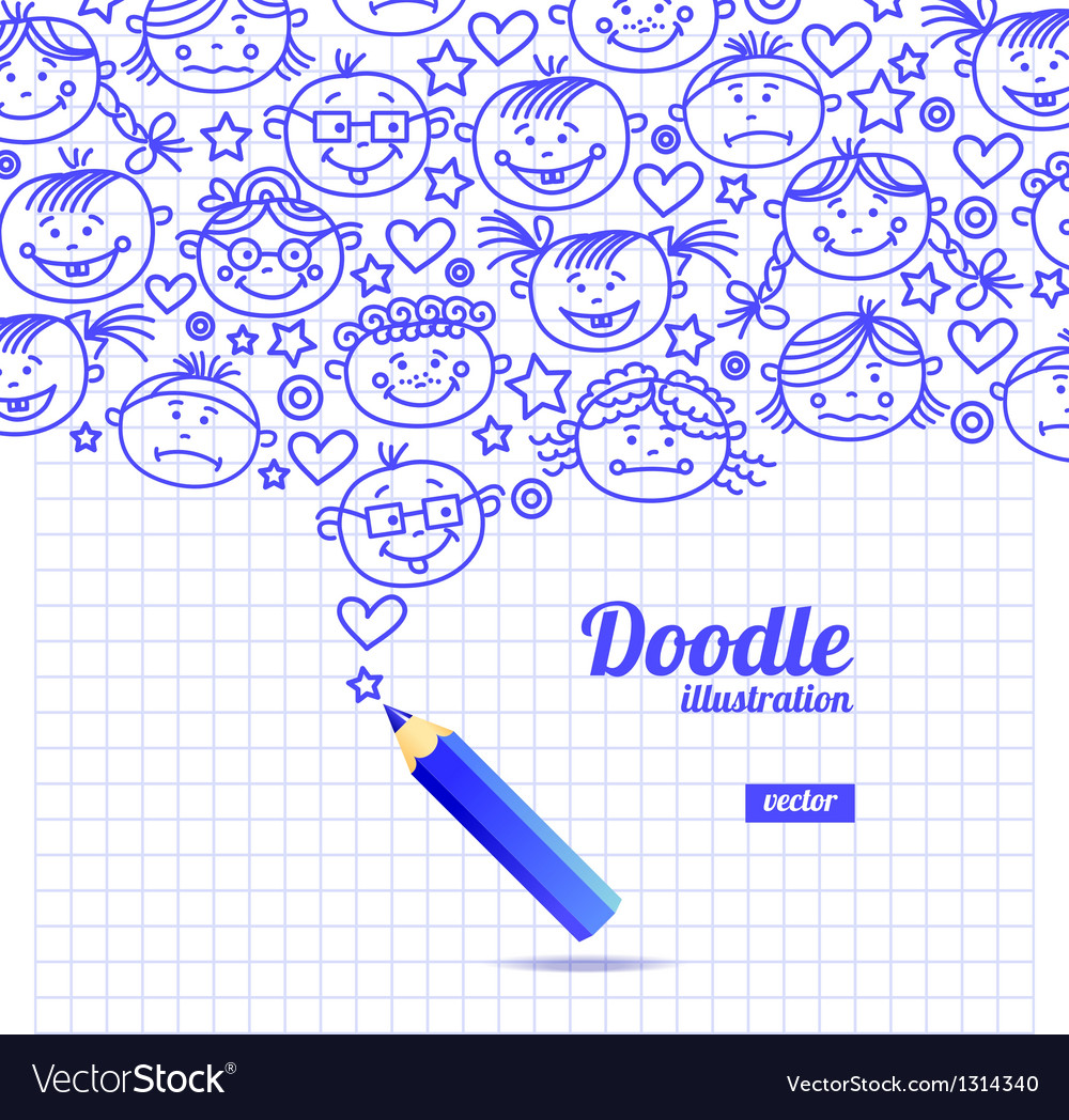 Doodle kid cartoon design vector   Price: 1 Credit (USD $1)