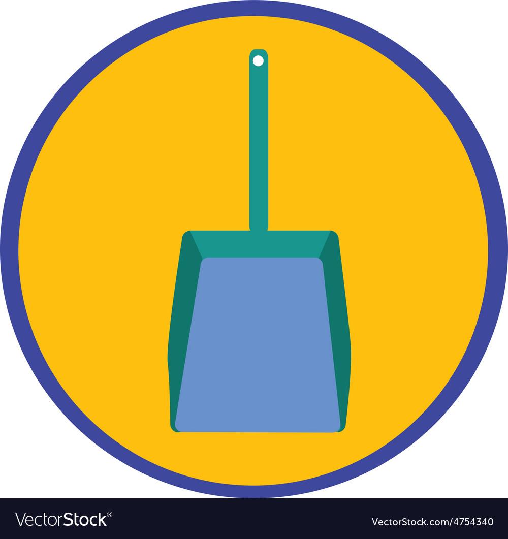 Dustpan icon vector | Price: 1 Credit (USD $1)