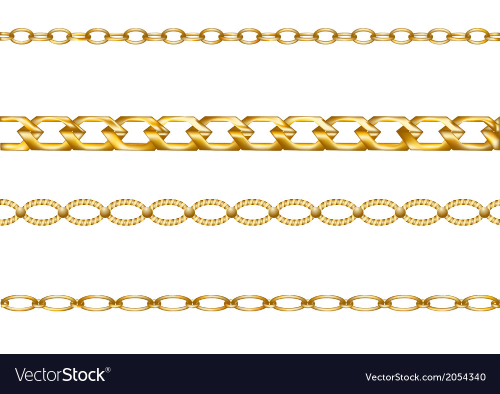 Gold chains vector | Price: 1 Credit (USD $1)