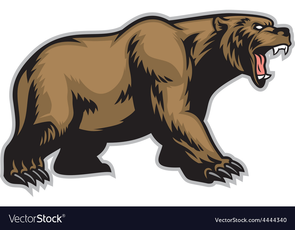 Grizzly bear mascot vector | Price: 3 Credit (USD $3)