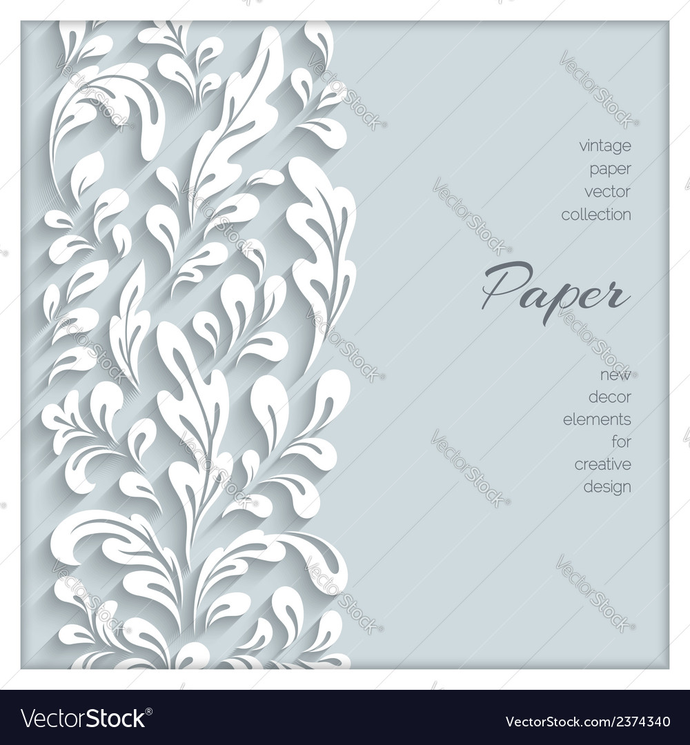 Paper swirls background vector | Price: 1 Credit (USD $1)